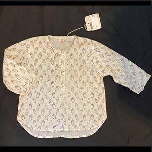 NWT $70 Ketiketa 12 M Owl Tulsi Top Shirt Tunic